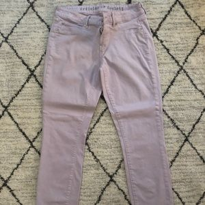 Violet Articles of Society Wm. Skinny Jeans, 28.